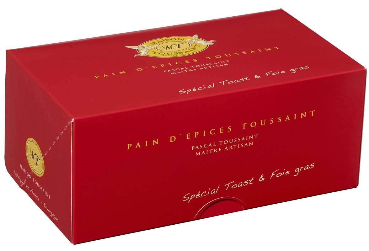 Pain d'épices toast spécial Foie Gras, Maison Toussaint (500 g)