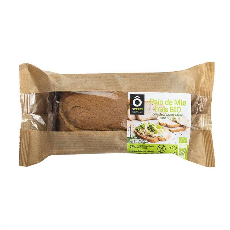 Pain de mie frais Complet Graines de Lin BIO sans gluten, Ô Cérès (330 g)