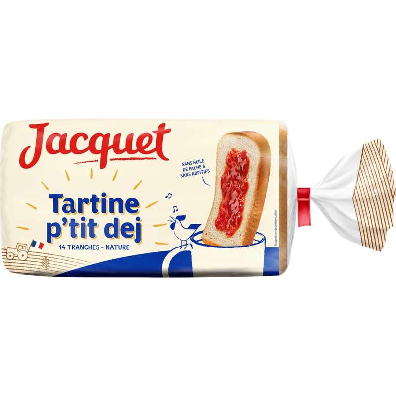 Pain de mie tartine p'tit dej nature, Jacquet (410 g)
