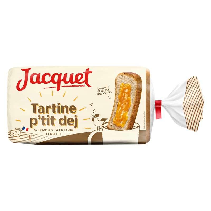 Pain de mie tartine p'tit déj à la farine complète, Jacquet (410 g)