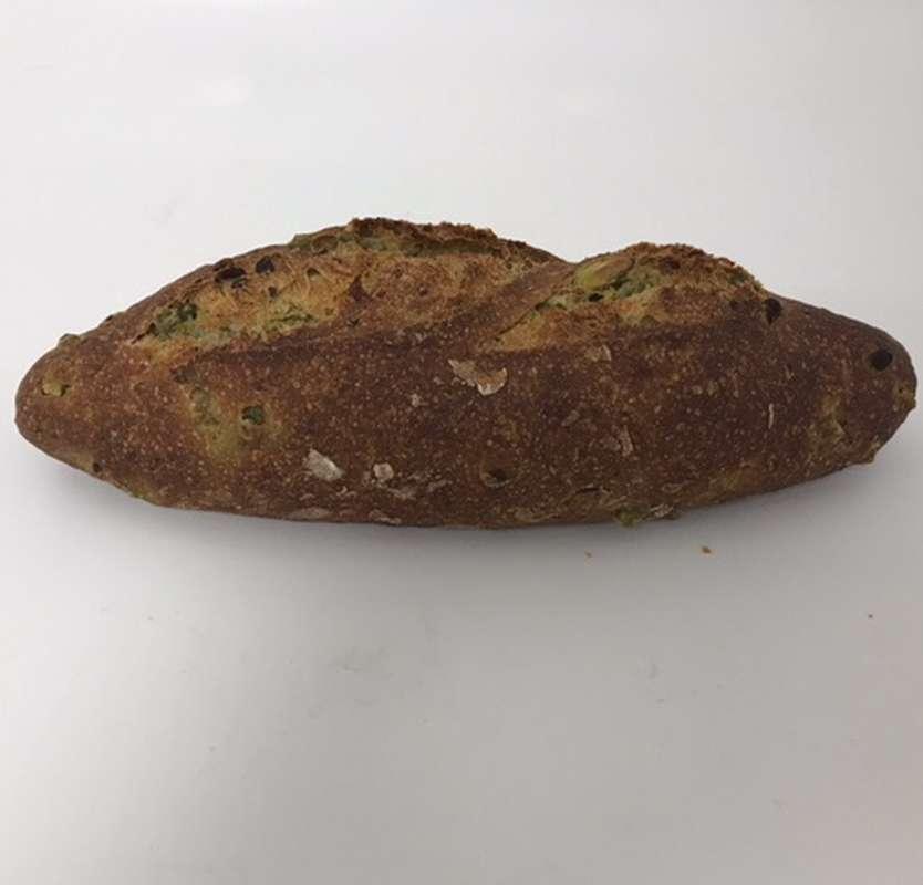 Pain à la farine de légumineuse, épinard, courgettes et menthe,  La Grande Epicerie de Paris (260 g)