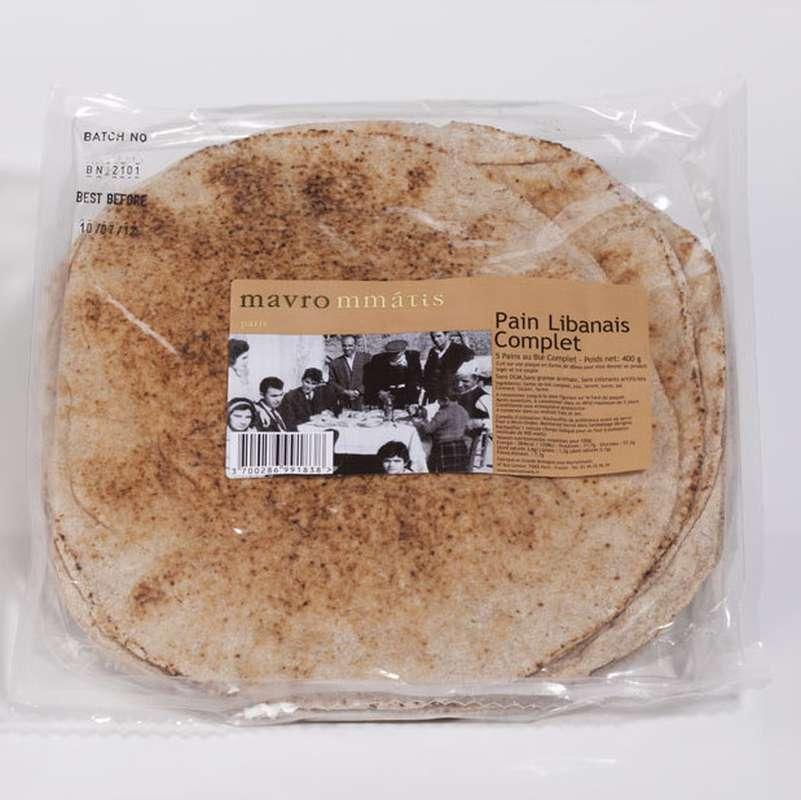 Pain libanais complet, Mavrommatis (x 7, 420 g)
