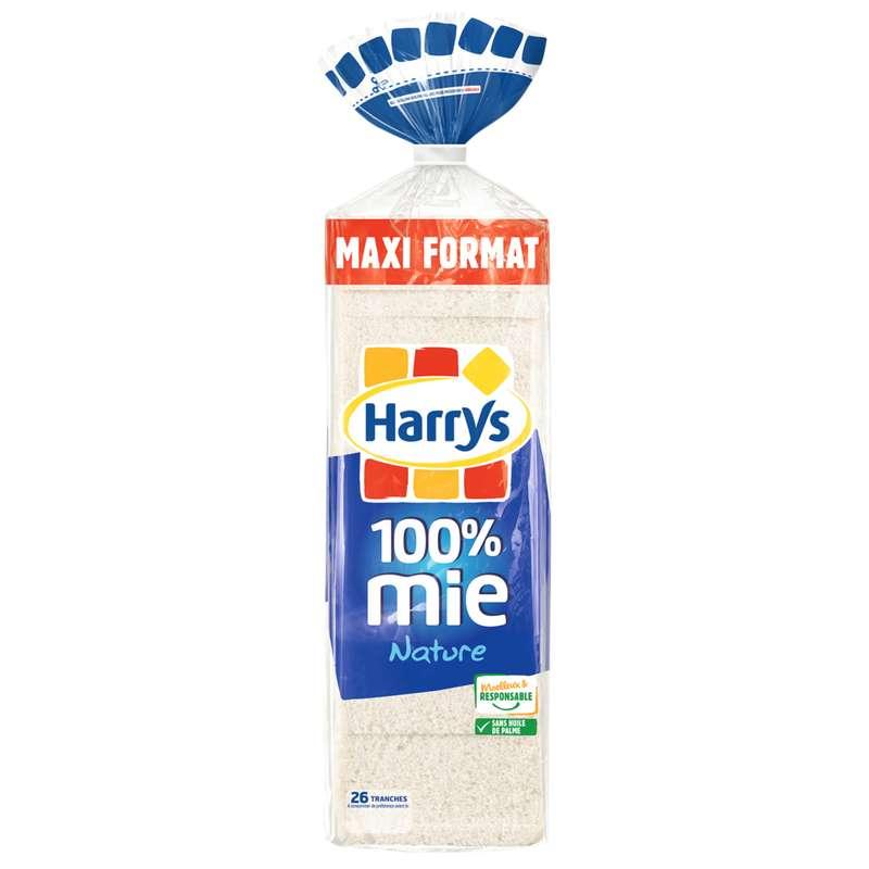 Pain de mie nature 100% mie petite tranche, Harry's (650 g)