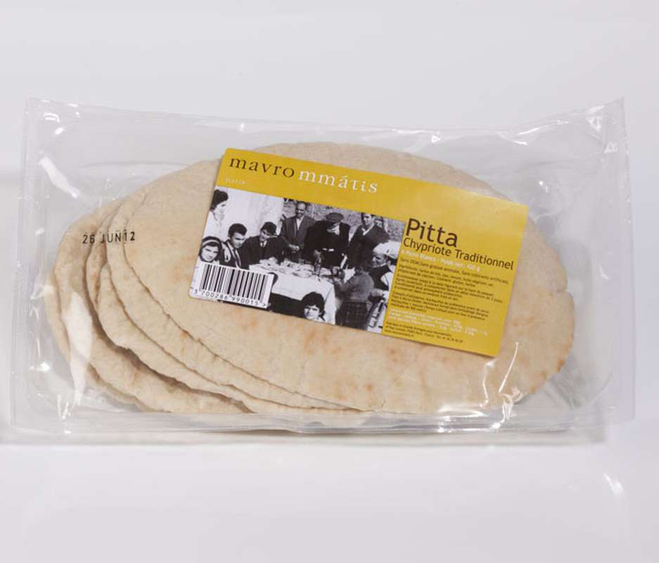 Pain pita traditionnel, Mavrommatis (420 g)