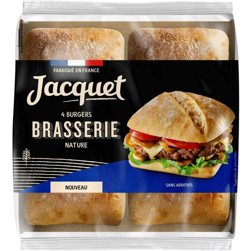 Pain pour hamburger brasserie nature, Jacquet (x 4, 330 g)