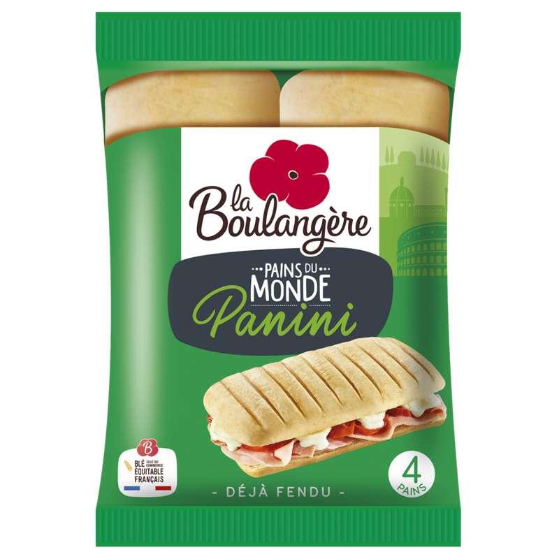 Pains spécial panini, La Boulangère (x 4, 300 g)
