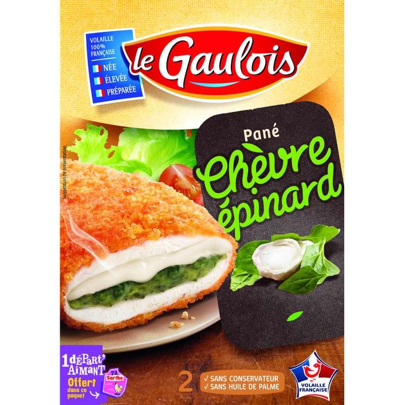 Pané de poulet chèvre épinard, Le Gaulois (x 2, 200 g)