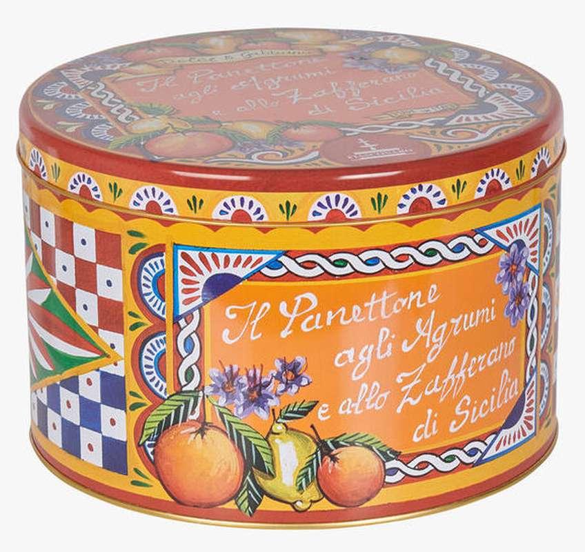 Panettone aux agrumes confits et au safran de Sicile, Fiasconaro (format individuel - 100 g)