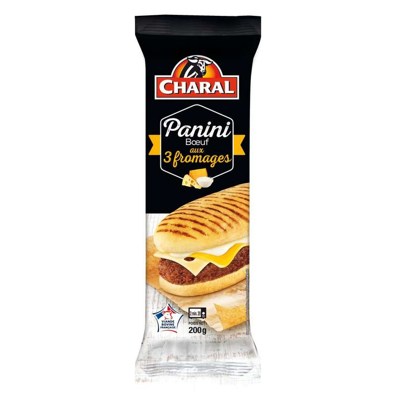 Panini 3 fromages, Charal (x 1, 200 g)
