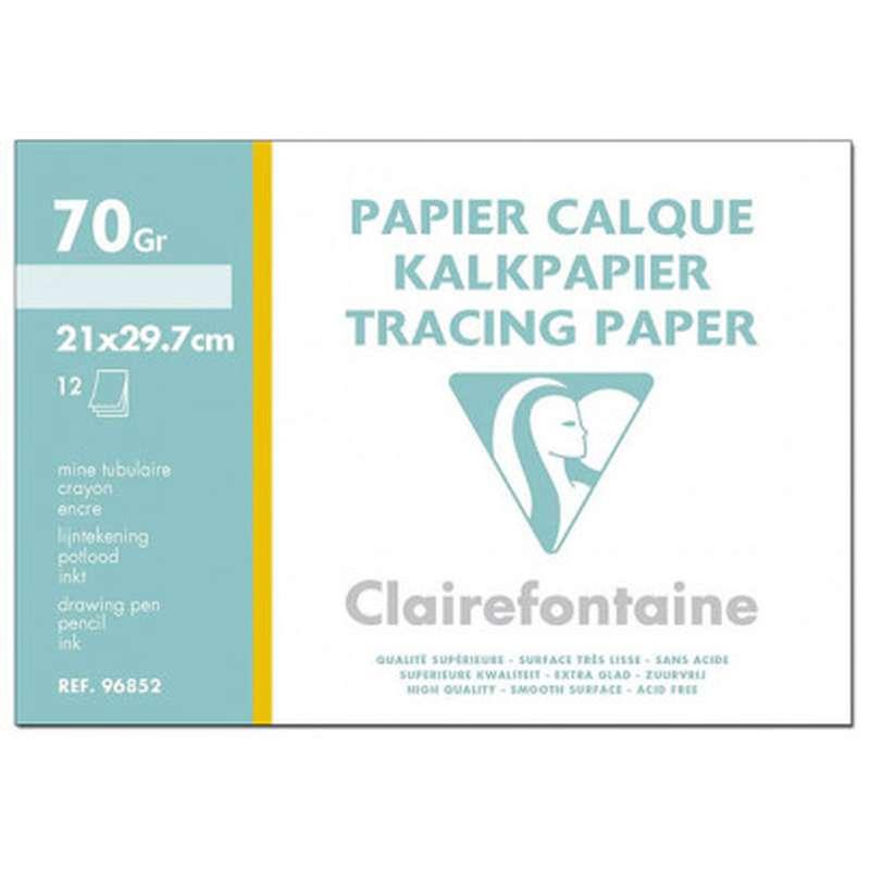Papier calque A4, Clairefontaine (x 12 feuilles)