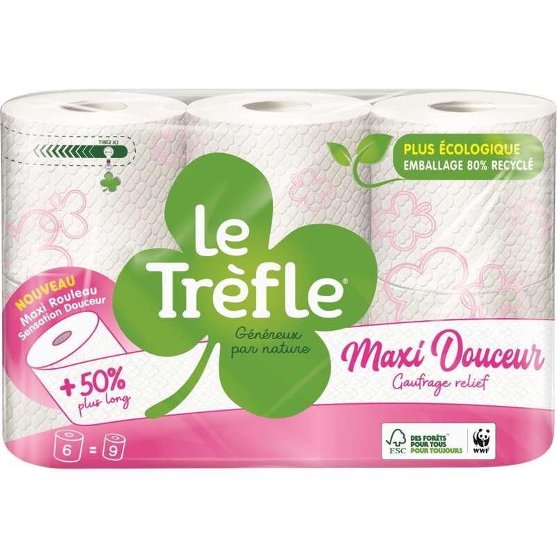 Papier toilette maxi douceur, Le Trèfle (x 6 = 9)