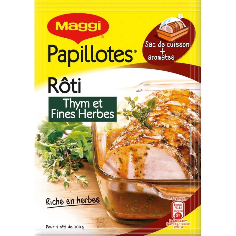 Assaisonnement pour papillottes de rôti au thym et fines herbes, maggi (30 g)