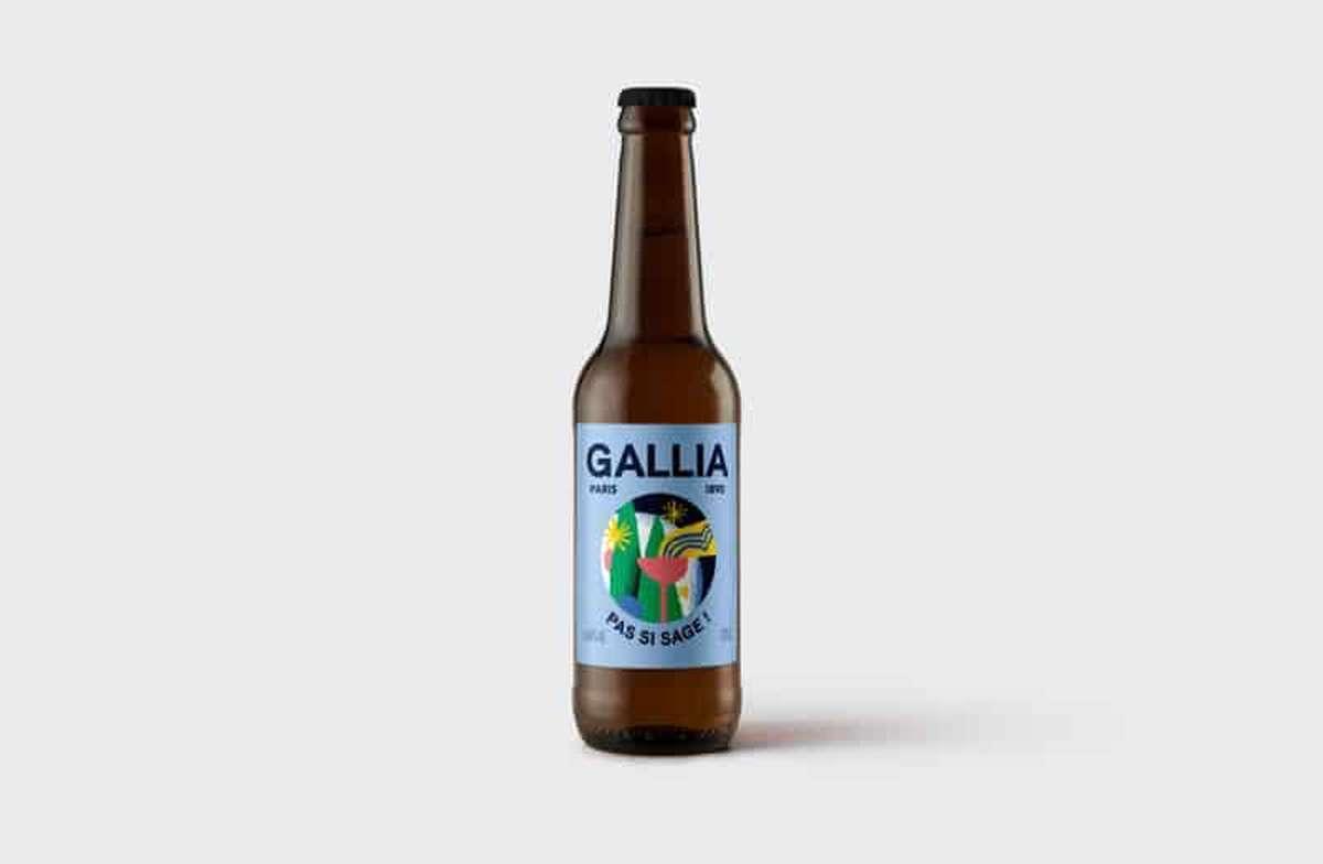 Pas si sage bière blonde 4,8%, Gallia (33 cl)