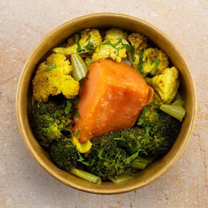 Patate douce, chou-fleur et brocoli aux épices (300 g)