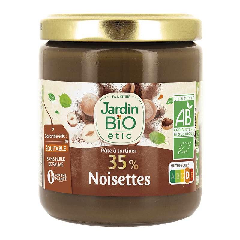 Pâte à tartiner 35% de noisettes BIO, Jardin Bio étic (270 g)