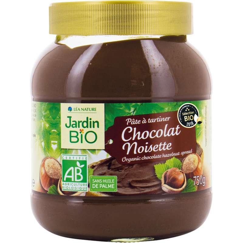 Pâte à tartiner chocolat noisette BIO, Jardin Bio (750 g)