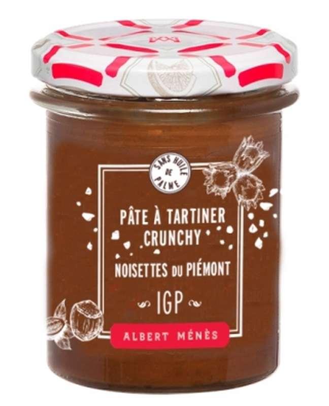 Pâte à tartiner crunchy aux noisettes du Piémont, Albert Ménès (210 g)