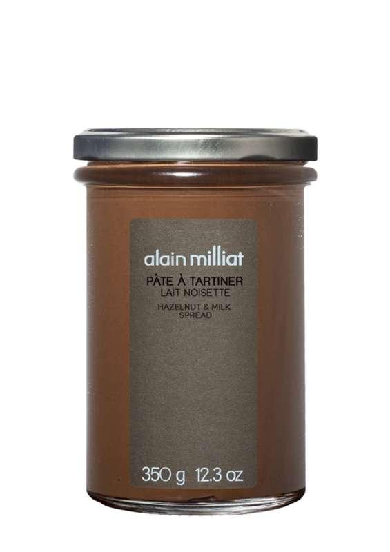 Pâte à tartiner lait et noisettes, Alain Milliat (350 g)