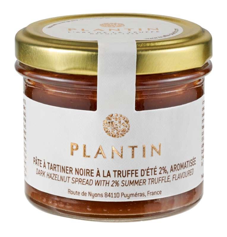 Pâte à tartiner noire à la truffe d'été 2% aromatisée, Plantin (100 g)