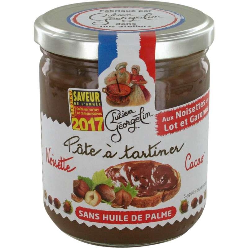 Pâte à tartiner noisettes cacao du Lot et Garonne, Lucien Georgelin (400 g)