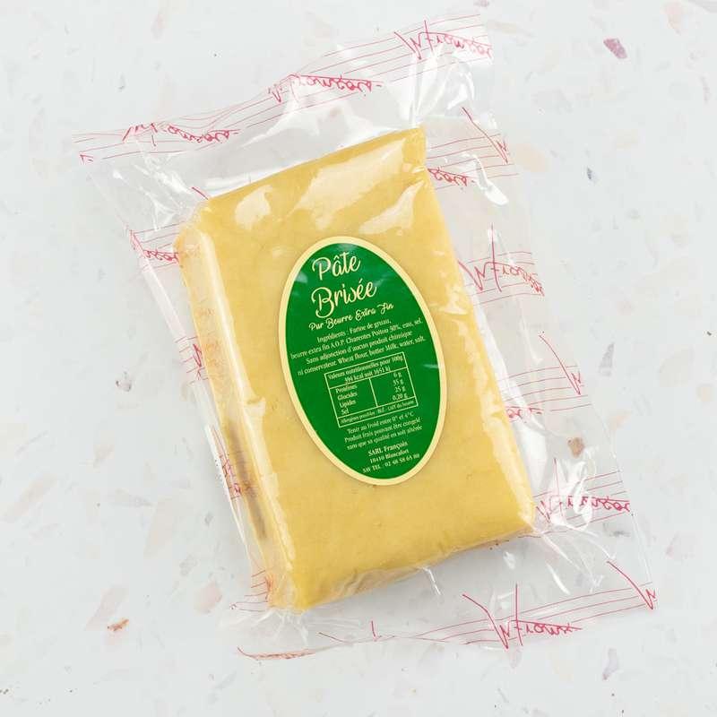 Pâte brisée artisanale «François» au beurre extra fin AOP Charentes-Poitou de la laiterie d'Echiré (env. 400 g)