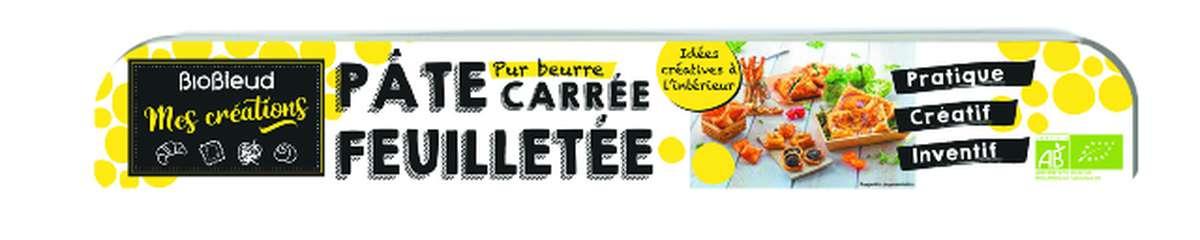 Pâte carrée feuilletée pur beurre aux céréales complètes BIO, Biobleud, (250 g)