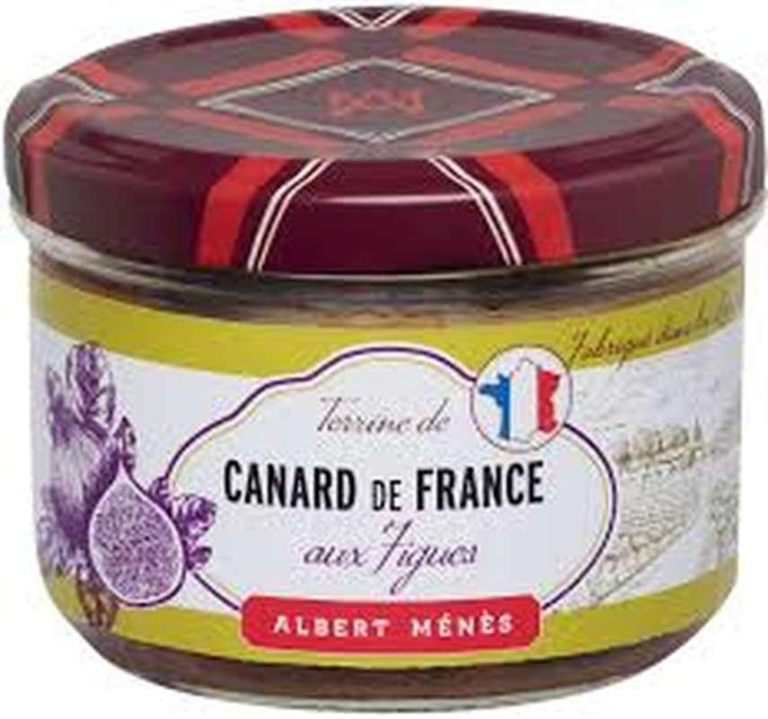 Pâté de canard de France aux figues, Albert Ménès (180 g)