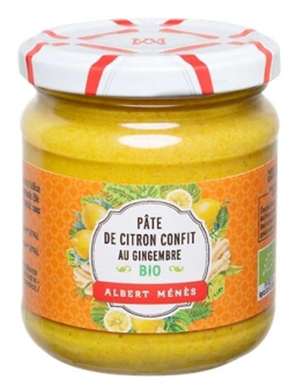 Pâte de citron confit au gingembre BIO, Albert Ménès (210 g)