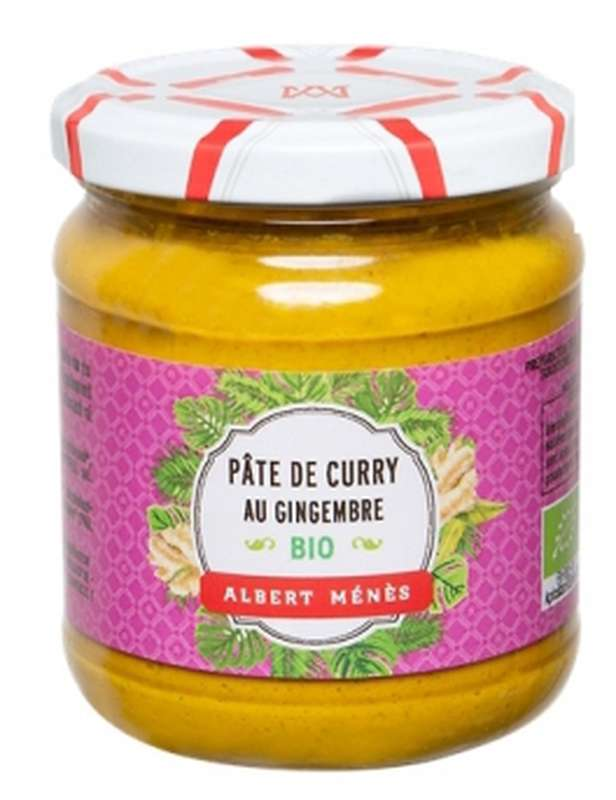 Pâte de curry au gingembre BIO, Albert Ménès (210 g)