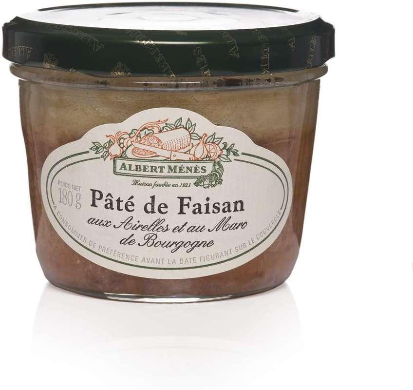 Pâté de faisan aux airelles et au marc de Bourgogne, Albert Ménès (180 g)