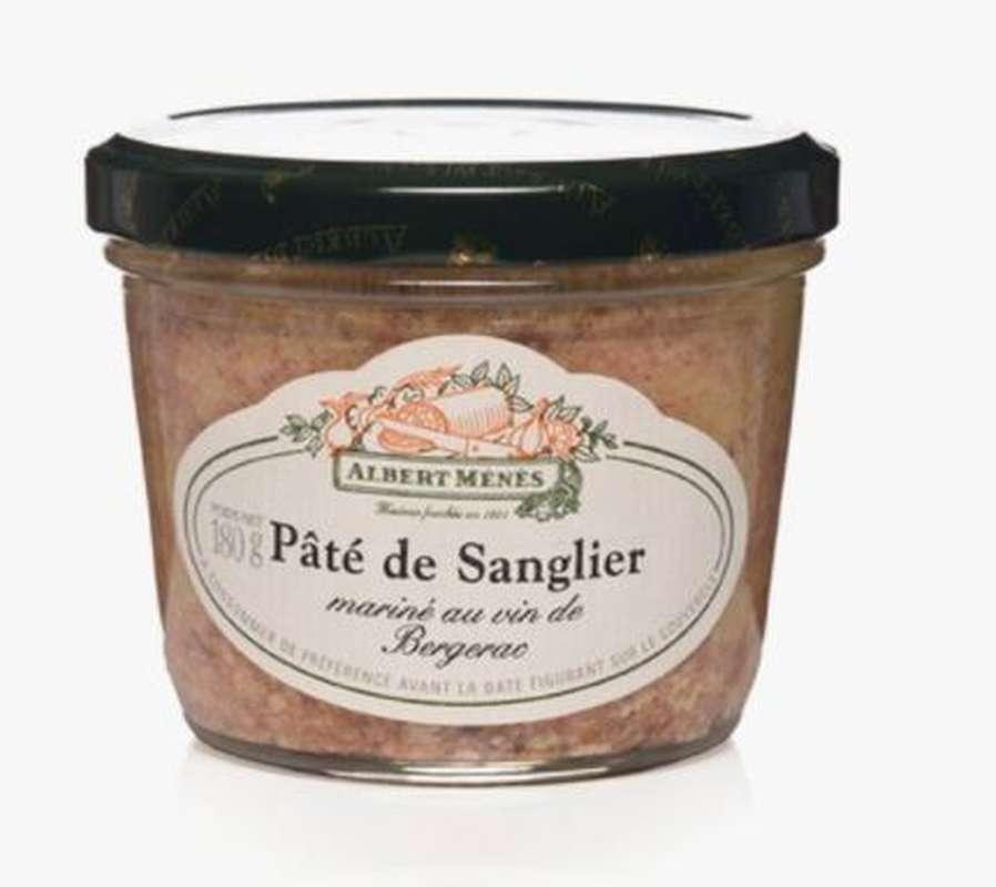Pâté de sanglier mariné au vin de Bergerac, Albert Ménès (180 g)