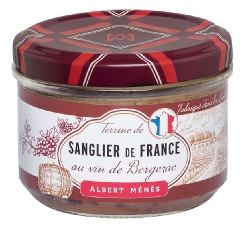 Terrine de Sanglier de France mariné au vin de Bergerac, Albert Ménès (180 g)