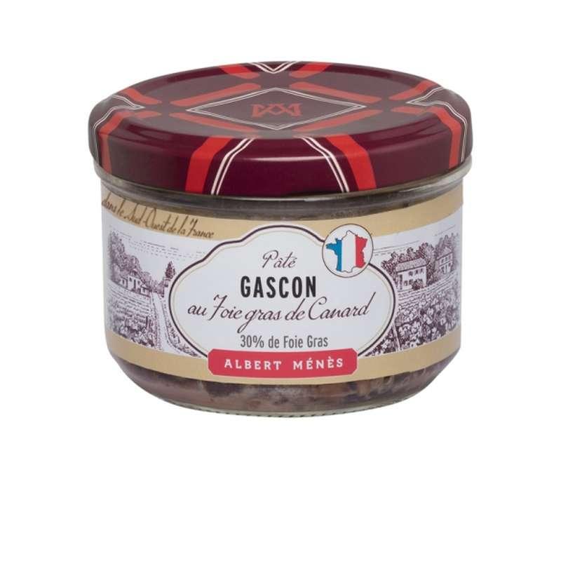 Pâté Gascon au foie gras de canard, Albert Ménès (180 g)