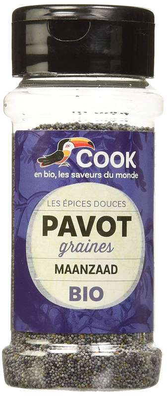 Graines de pavot bleu BIO, Cook (55 g)