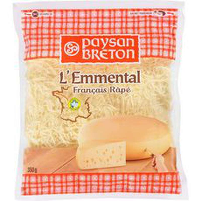 Emmental râpé 29% de MG, Paysan Breton (350 g)