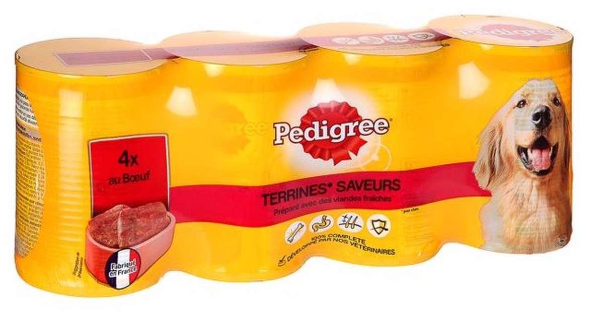 Terrine pour chien au bœuf, Pedigree (4 x 410 g)