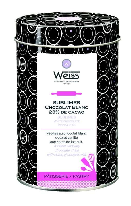 Pépites au chocolat blanc 23% de cacao, Weiss (400 g)