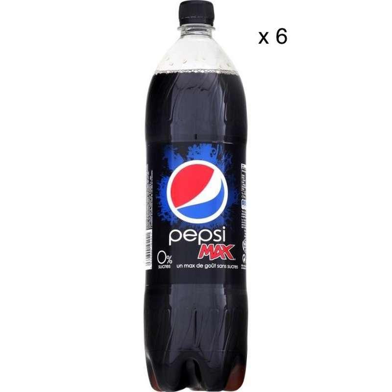 Pack de Pepsi Max sans sucre (6 x 1,5 L)