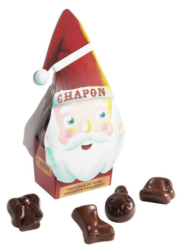 Père Noël - assortiment de fritures pralinées, Chapon Chocolatier (120 g)