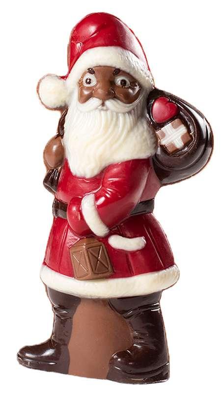 Père Noël chocolat au lait 14 cm, Genaveh (x 1)