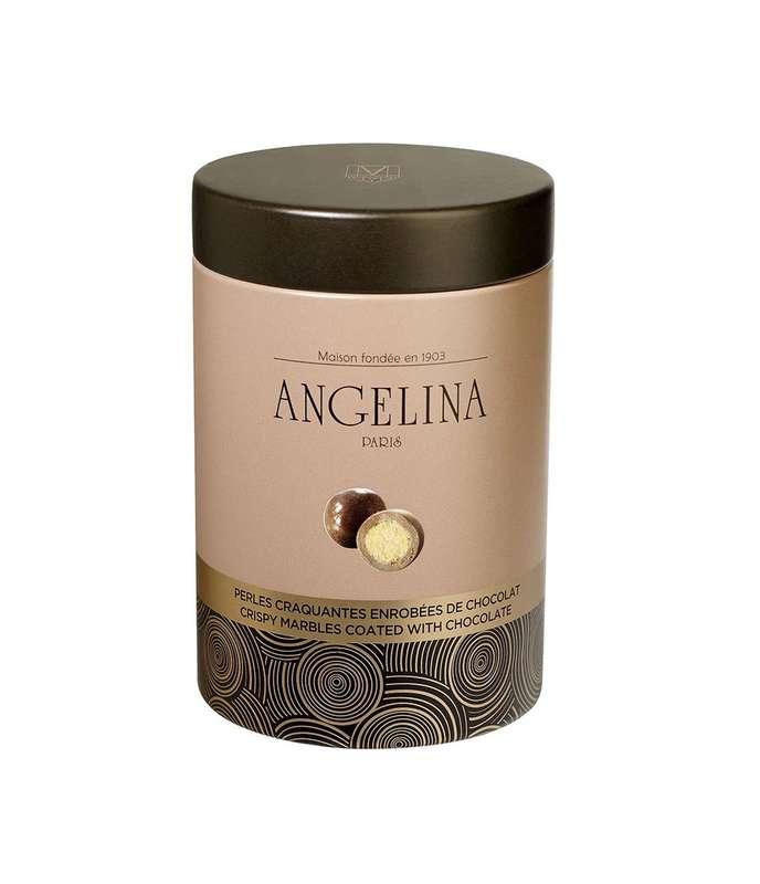 Perles craquantes enrobées de chocolat au lait, Angelina (110 g)