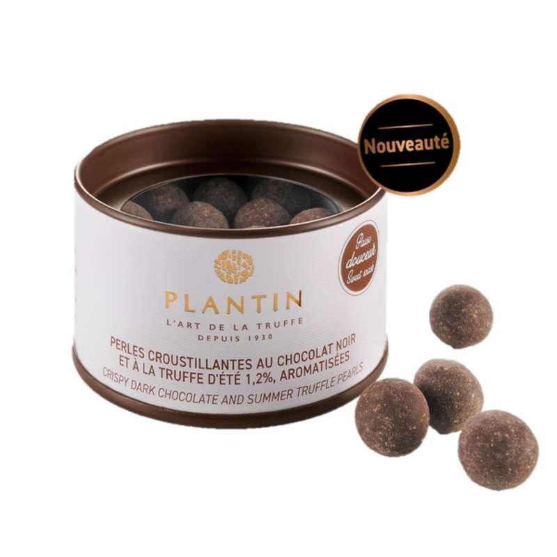 Perles croustillantes au chocolat noir et à la truffe d'été 1.2% aromatisées, Plantin (70 g)