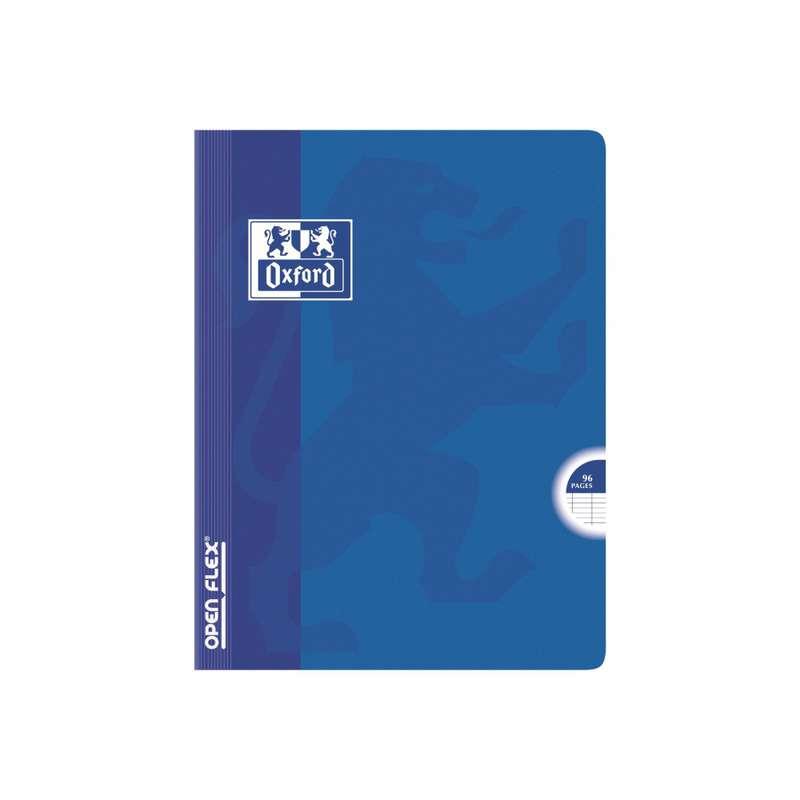 Petit cahier à agrafes colori bleu, Oxford (1 cahier, 17 x 22 cm, 96 pages)