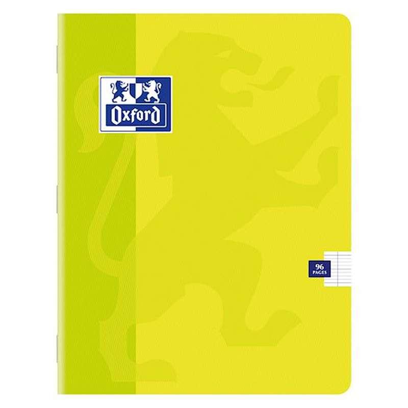 Petit cahier à agrafes colori jaune, Oxford (1 cahier, 17 x 22 cm, 96 pages)