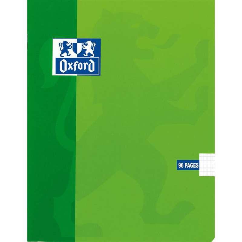 Petit cahier à agrafes colori vert, Oxford (1 cahier, 17 x 22 cm, 96 pages)