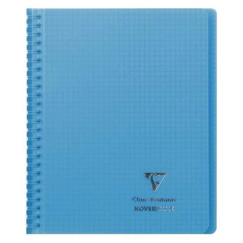 Petit cahier relié petits carreaux colori bleu, Clairefontaine (1 cahier, 16 x 21 cm, 160 pages)