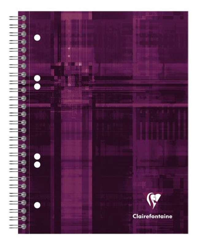 Petit cahier relié petits carreaux colori violet, Clairefontaine (1 cahier, 16 x 21 cm, 160 pages)