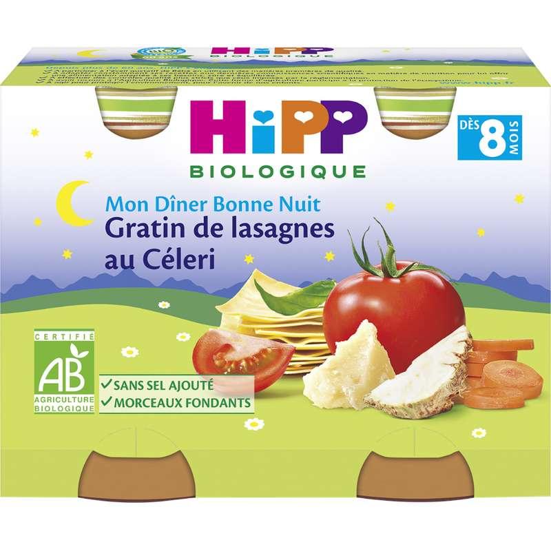 Mon diner bonne nuit gratin de lasagnes au céleri BIO - dès 8 mois, Hipp (2 x 190 g)