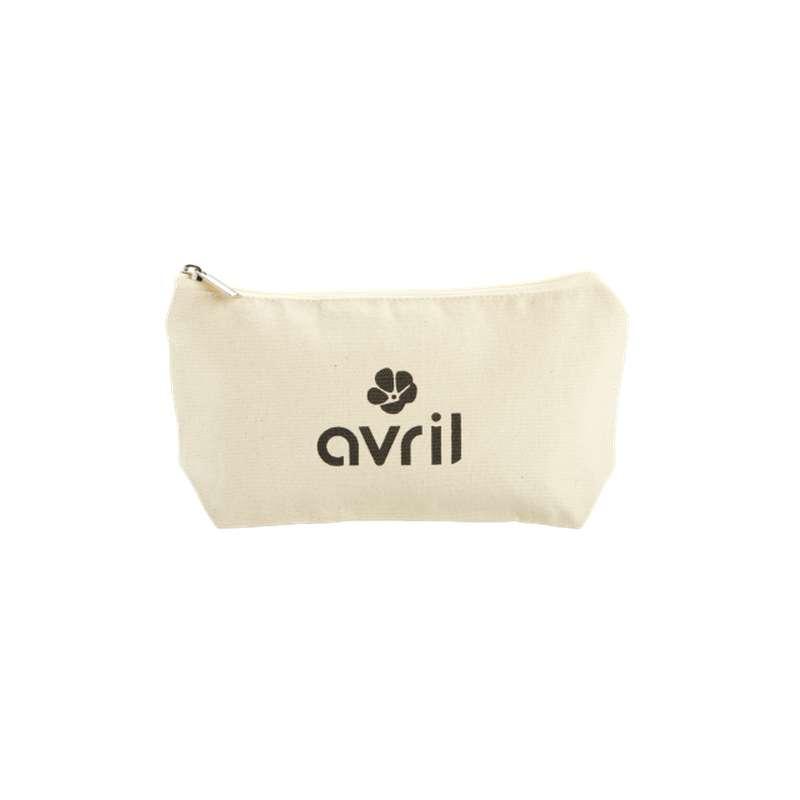 Trousse à maquillage petit format en coton BIO, Avril (x 1)