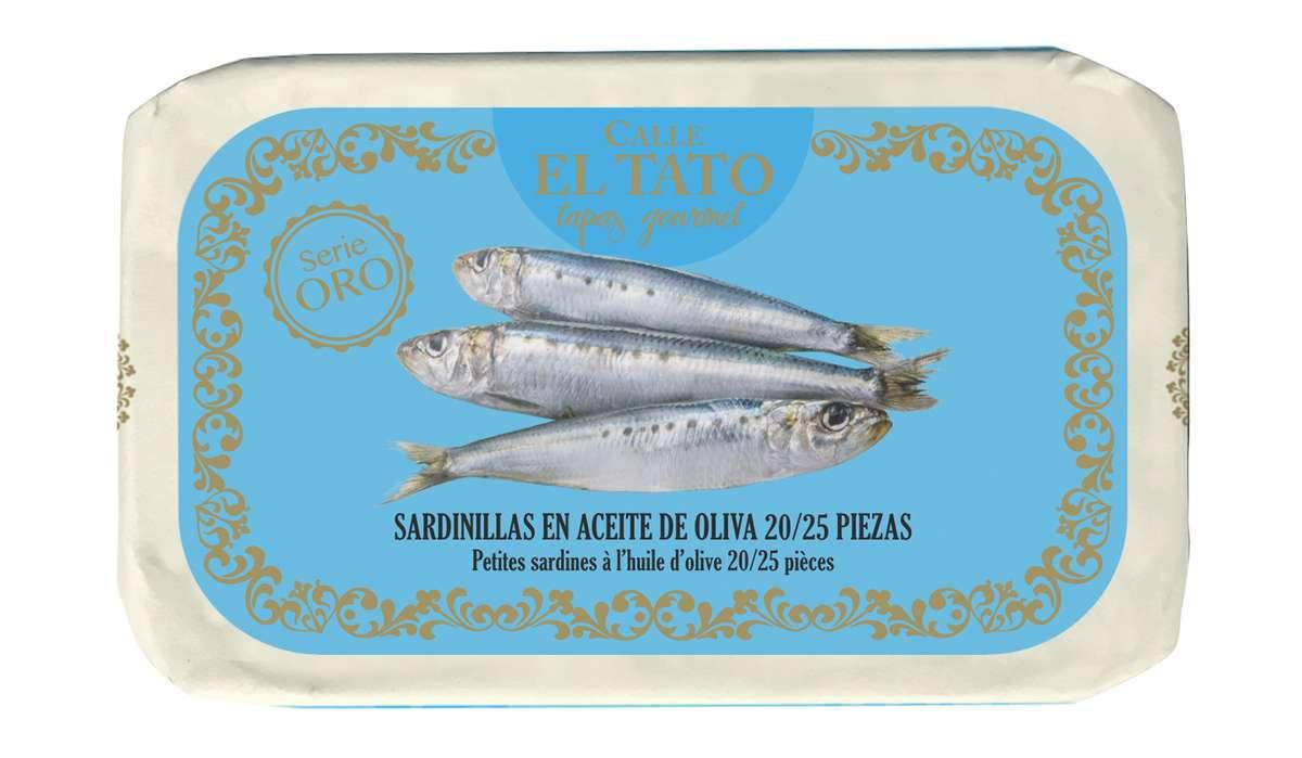 Sardillinas, petites sardines à l'huile d'olive, Calle El Tato (81 g)